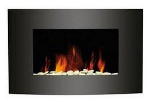 2012 KMS New Medium Wall Mounted Electric Fire Place Fireplace Heater with Black Curved Glass Screen Plasma Style 1800W MA KMS New Medium Wall Mounted Electric Fire Place Fireplace Heater with Black Curved Glass Screen Plasma Style MAX 2012 1800W