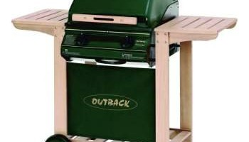 Outback Trooper 2-Burner Hooded Barbecue with Cover