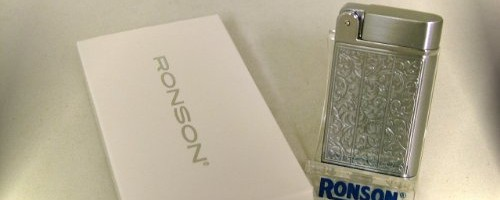 Ronson Venetian Jet Flame Gas Lighter