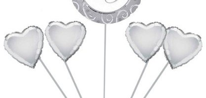 25th Silver Anniversary Helium Gas Package