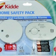 Carbon Monoxide & Smoke Detector Alarm Safety pack easy fit & ready to use with FREE batteries
